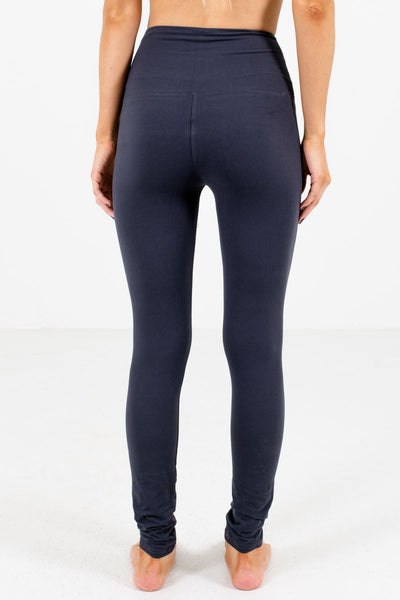 Women's Charcoal Gray Elastic Waistband Boutique Leggings