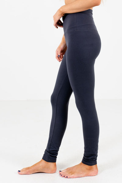 Charcoal Gray Skinny Fit Boutique Leggings for Women