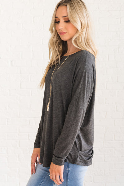 Cute Gray Boutique Clothing for Women