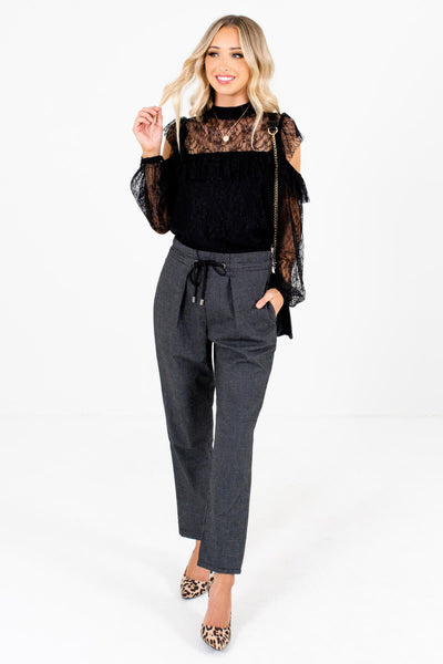 Black and White Fall Boutique Fashion Slack Style Pants