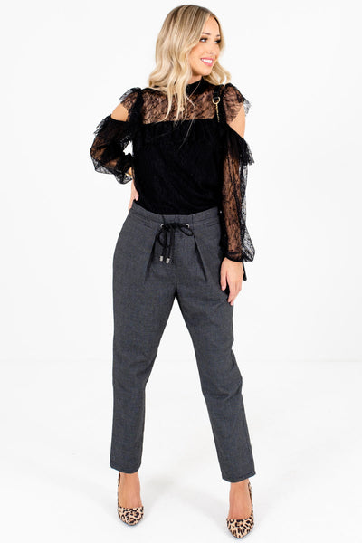 Women's Black Business Casual Boutique Clothing