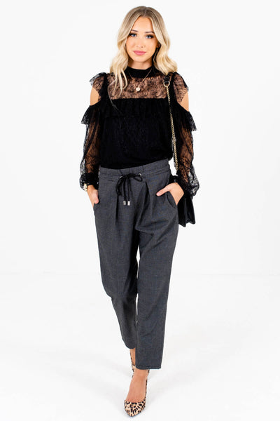 Women's Black High-Quality Lightweight Boutique Pants