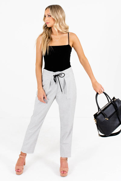 White Cute and Comfortable Boutique Pants for Women