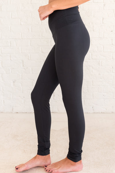 Black High-Waisted Women's Leggings