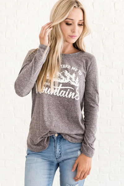 Gray Cute Casual Fall Clothing for Women