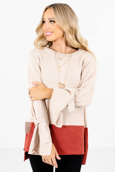 Beige Cute and Comfortable Boutique Sweaters for Women
