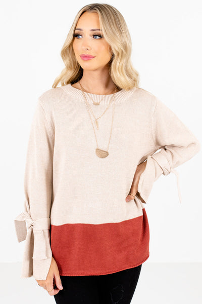 Women's Beige Warm and Cozy Boutique Clothing