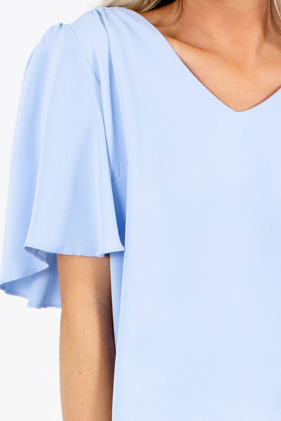 Taking Chances Flutter Sleeve Blouse