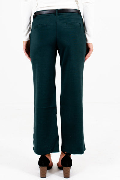 Dark Teal Green Cute Womens Slacks Affordable Online Boutique