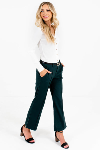 Dark Teal Green Boutique Pants and Slacks for the Office