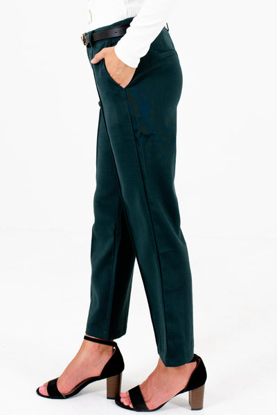 Dark Teal Forest Green Business Casual Pants and Slacks