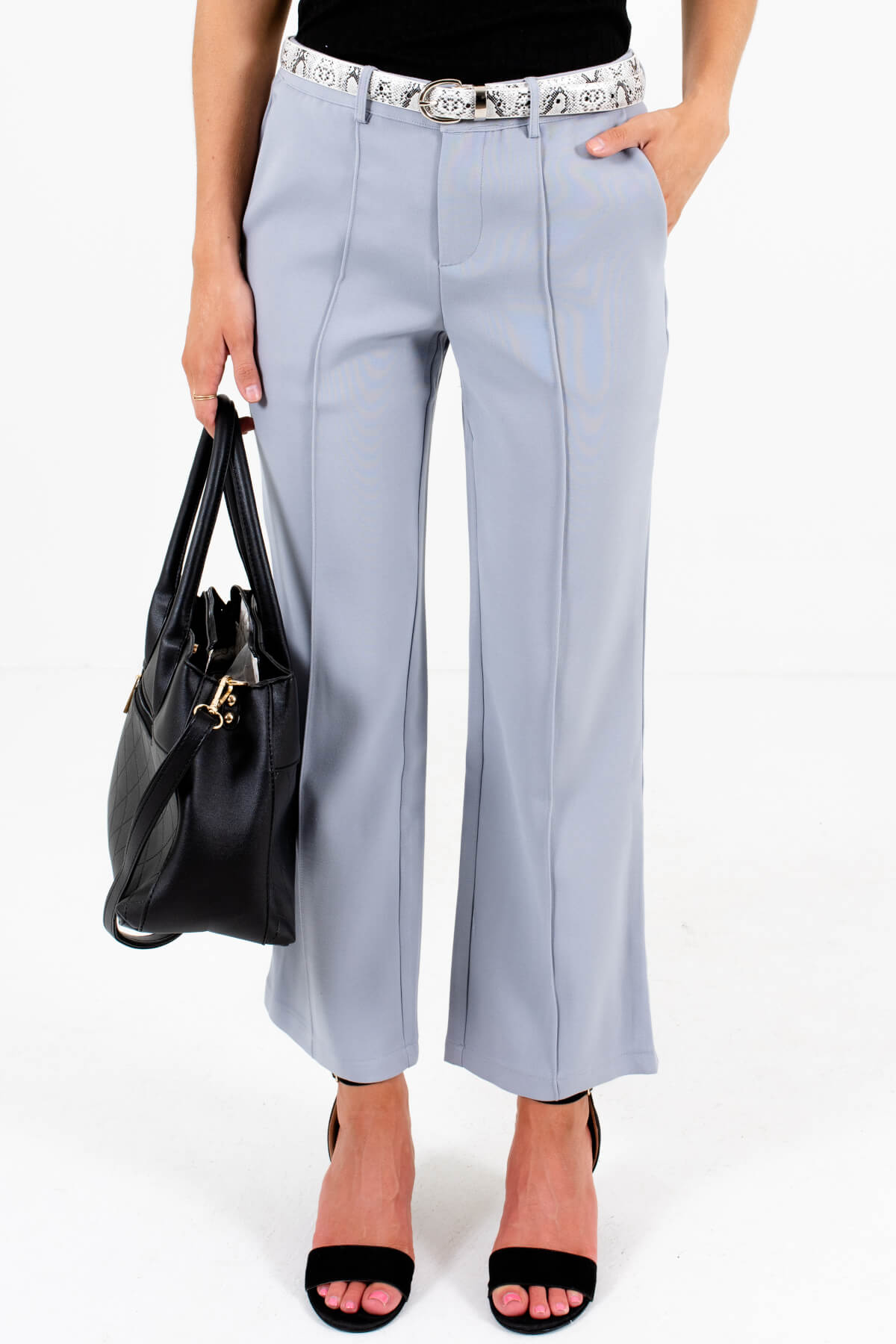 Light Slate Blue Gray Business Casual Slacks for Women