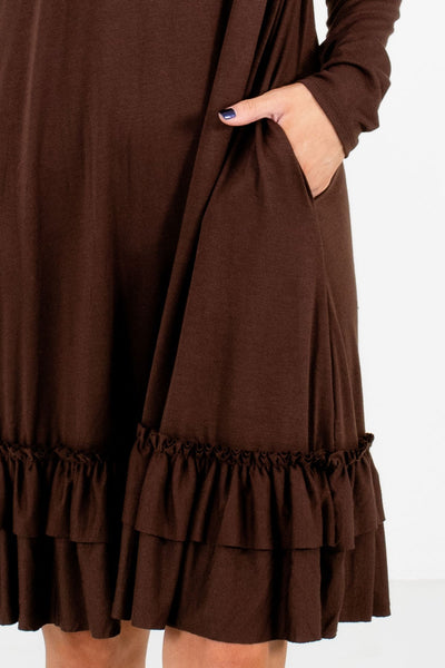 Brown Affordable Online Boutique Clothing for Women