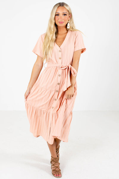 Thank Heavens Button-Up Midi Dress