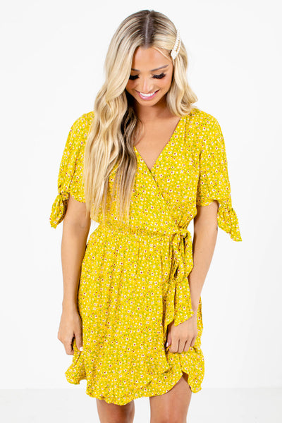 Women's Yellow Cute and Comfortable Boutique Mini Dress