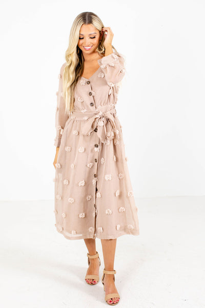 The Final Rose Button-Up Midi Dress