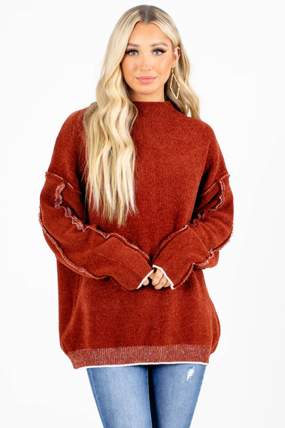 Rust Cute and Comfortable Boutique Sweaters for Women