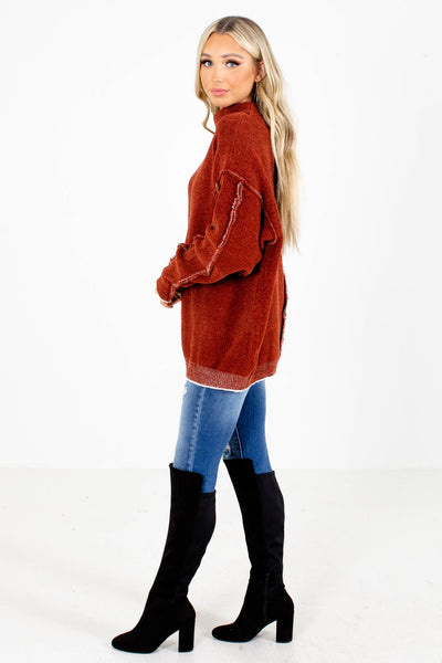 Women's Rust High Quality Boutique Sweater
