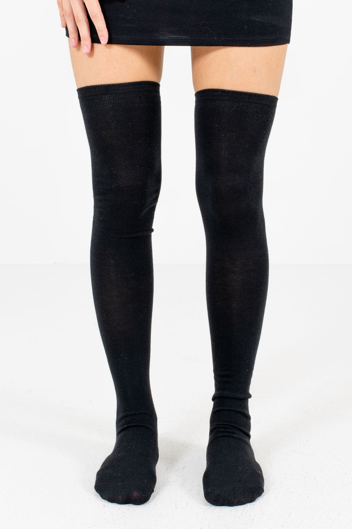 Black Boutique Thigh High Socks for Women