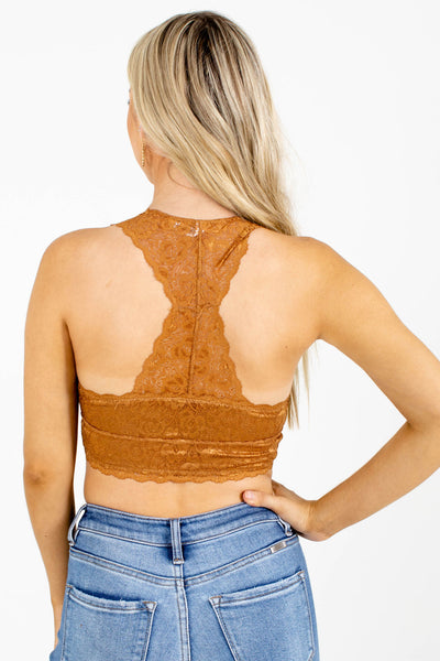 Women's Brown Racerback Style Boutique Bralette