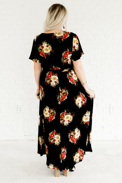 The Secret Garden Black Floral Maxi Dress | Plus Size Maxi Dress