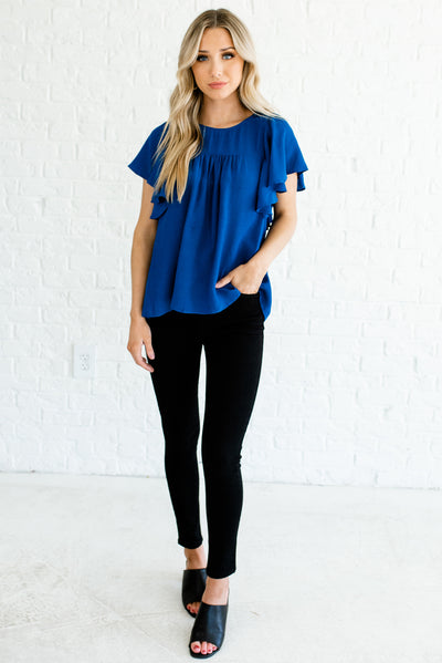 Women's Royal Blue Spring and Summertime Boutique Clothing