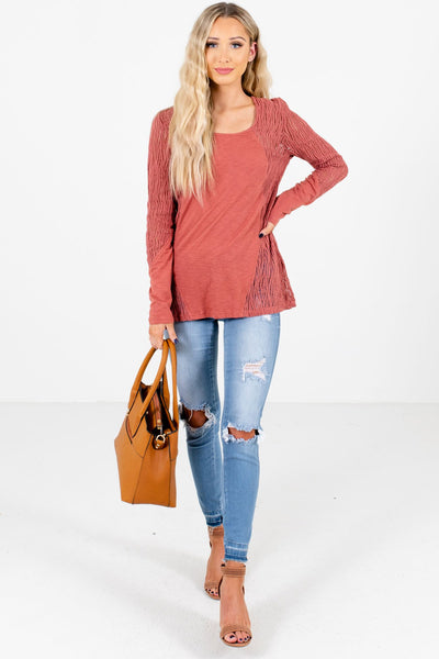 Women's Coral Fall and Winter Boutique Clothing