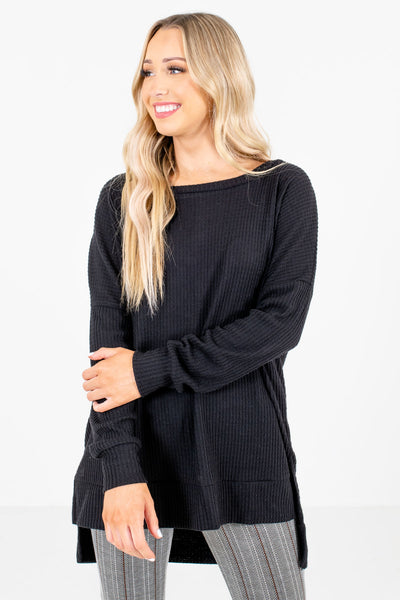 Women's Black Casual Everyday Boutique Clothing