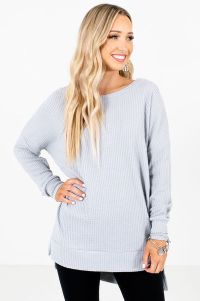 Women's Gray Casual Everyday Boutique Clothing