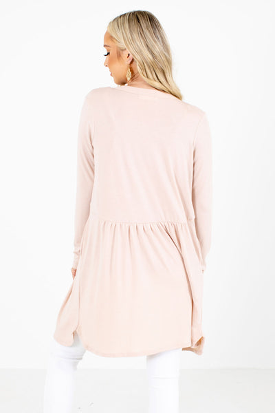 Women's Blush Pink Layering Boutique Cardigans