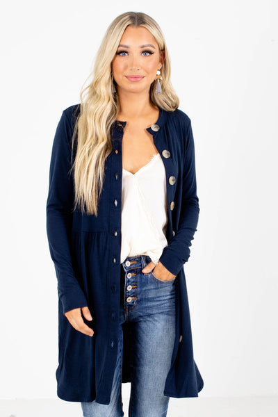 Thinking Ahead Button-Up Cardigan