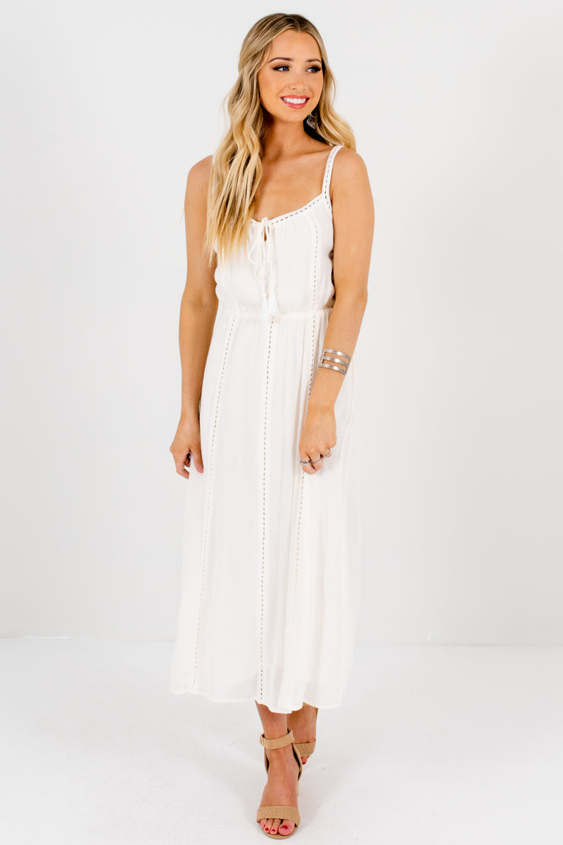Tie the Knot Cream Midi Dress