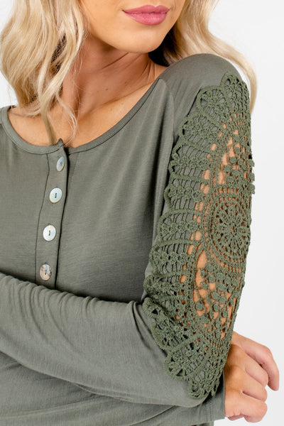 Light Olive Green Affordable Online Boutique Clothing for Women