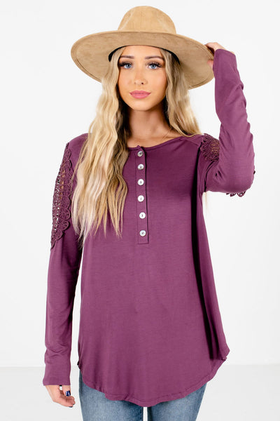 Women's Purple Soft High-Quality Boutique Tops