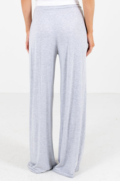 Women's Heather Gray Drawstring Waistband Boutique Pants