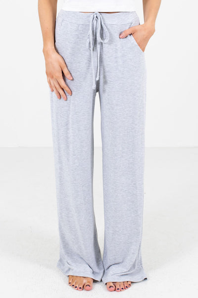 Heather Gray Soft and Stretchy Boutique Pants for Women