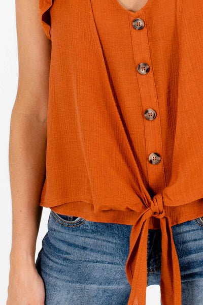 Rust Orange Affordable Online Boutique Clothing for Women