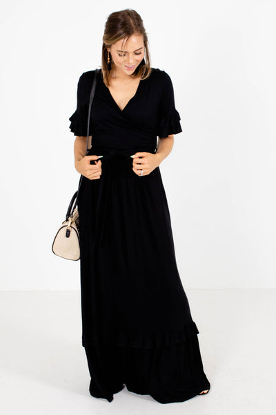 Black Cute and Comfortable Boutique Maxi Dresses for Women