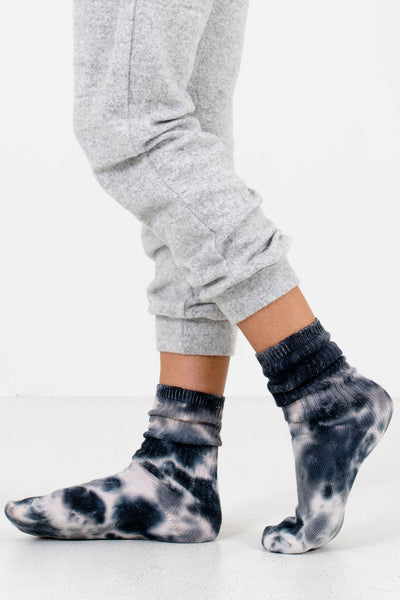 Women's Gray High-Quality Boutique Socks