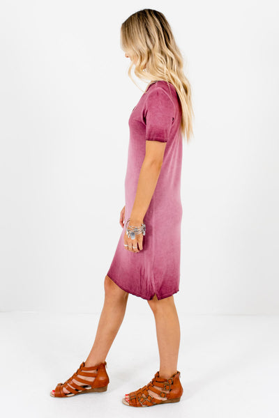 Pink Relaxed Fit Boutique Knee-Length Dresses for Women