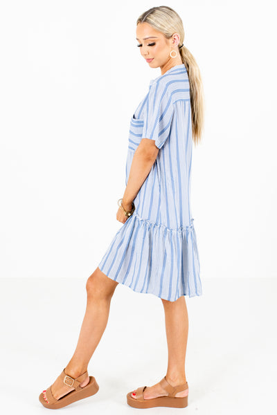 Women's Blue Cute and Comfortable Boutique Midi Dress