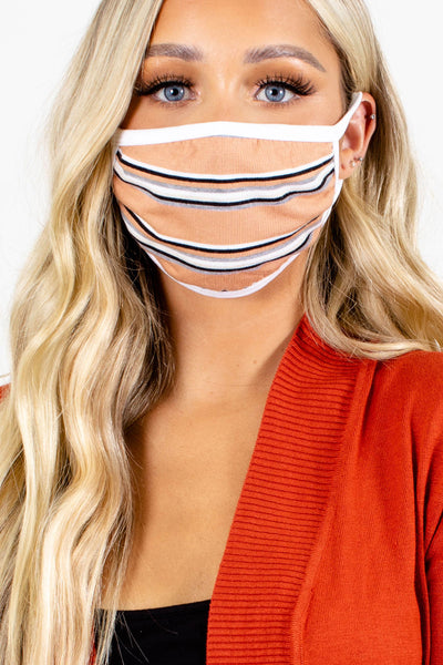 Top Priority Striped Reusable Face Masks