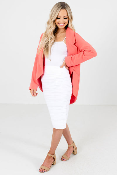 Women's White Cute and Comfortable Boutique Pencil Skirt
