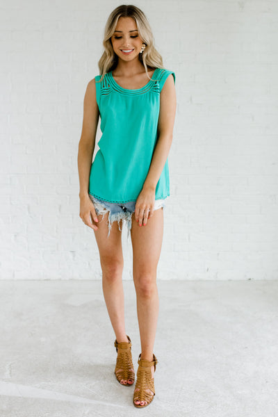 Women's Turquoise Blue Spring and Summertime Boutique Clothing