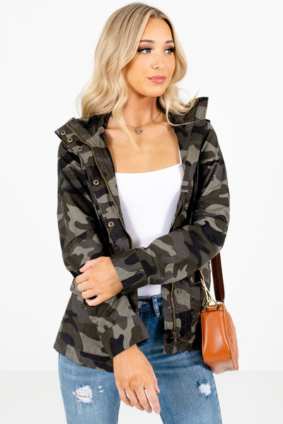Green Cute and Comfortable Boutique Jackets for Women