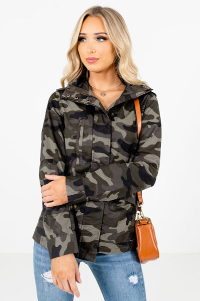 Women's Green Layering Boutique Jackets
