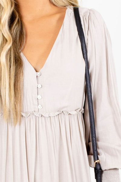 Beige Affordable Online Boutique Clothing for Women