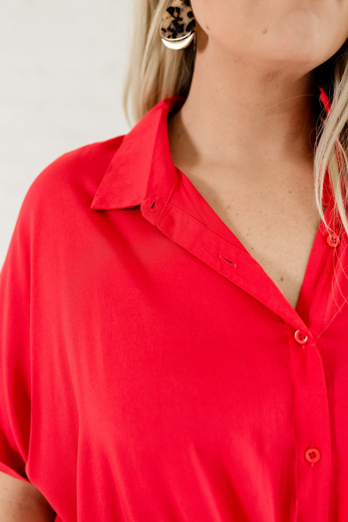 45dd298f Travel Abroad Hot Pink Button-Up Shirt | Plus Size Boutique Shirt