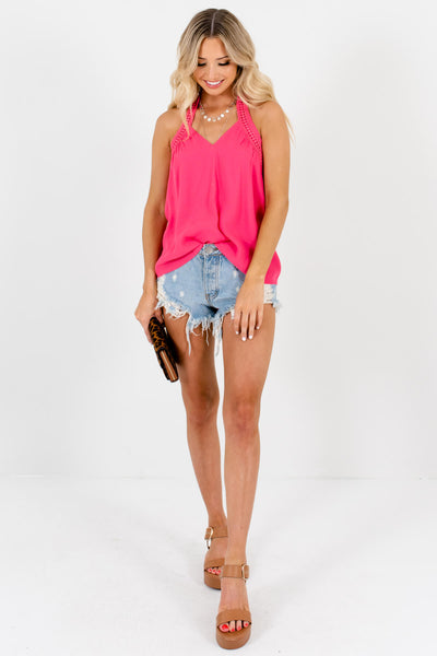 Pink Cute and Comfortable Boutique Tank Tops for Women