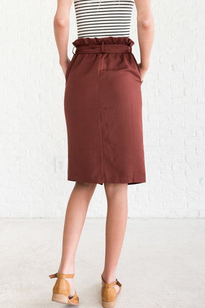 Brick Red Dressy Fall Clothing for Women